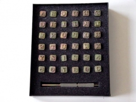 Soap stamp set - alphabet + numbers - small - ZES011
