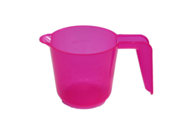 plastic measuring cup - smooth - pink - 300 ml - MEM16