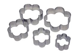 - NIEUW - uitsteker set - RVS - 5 stuks - Bloem - USP003