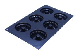 siliconen zeepmal - tulband - 6 stuks - ZMR020