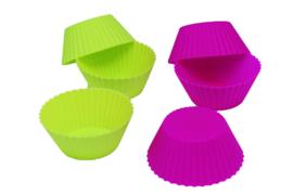 - NIEUW - Siliconen Cupcake vorm - 6 stuks - ZMR058
