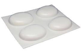 Soap mold - Oval round medium - 4 units - (temporarily white)  - ZMP062