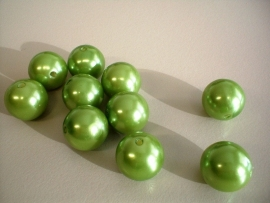bead - plastic pearl - apple green - 16 mm - 10 units - KEB001
