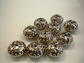 bead - metallic round type 49 - 10 x 18 mm - 10 units  - KEB025