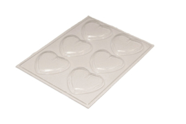 Soap mold - heart - medium - 6 units - ZMP018