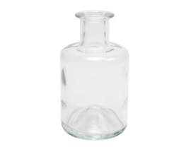 Glazen fles - apotheek + kurk - 200 ml
