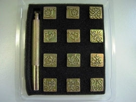 Soap stamp set - Flowers - 12 units - ZES015