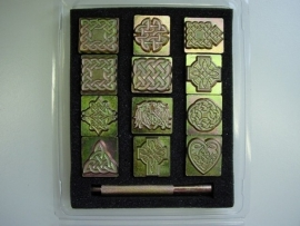 Soap stamp set - Celtic characters - ZES022