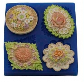- SALE -  First Impressions - Mold  - Flowers - assorted medaillon 2 - FL273