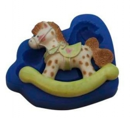 - SALE - First Impressions - Mold - Baby - Large Rocking Horse - B212