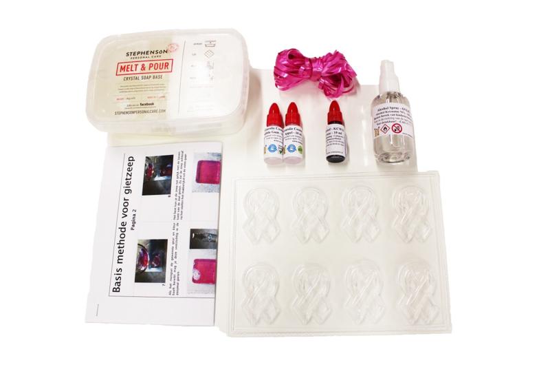 Ribbon zeepjes pakket - t.v.v. Wereld Kanker Onderzoek Fonds