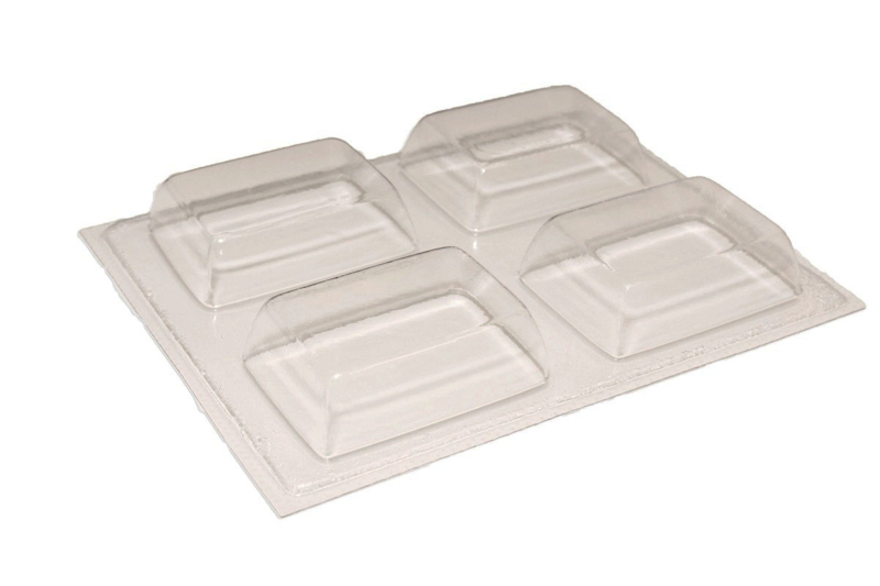Soap mold - rectangle - 4 units - ZMP033