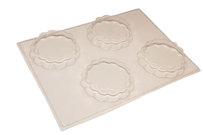 Soap mold - tarts -  4 units - ZMP047