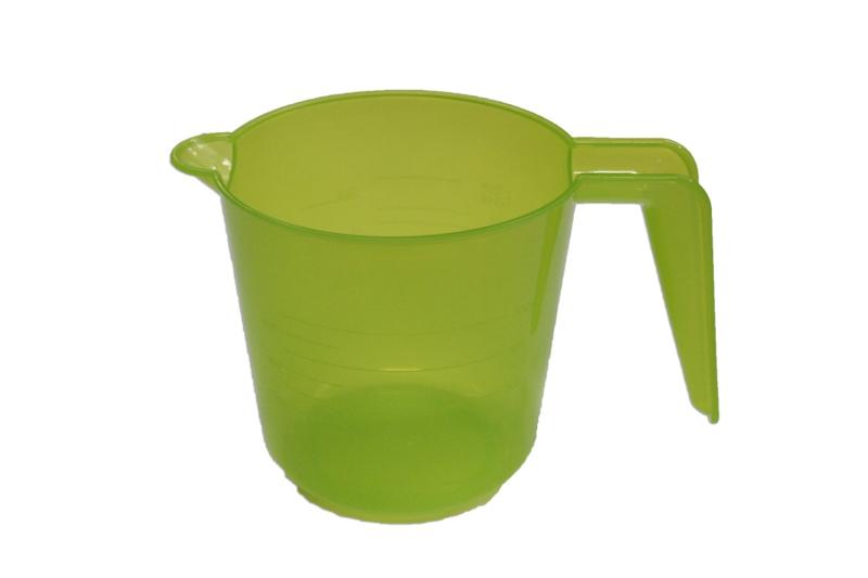 plastic maatbeker - soepel - geel - 500 ml - MEM17