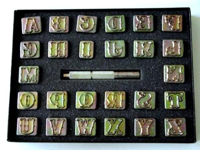 Zeep stempel set - alfabet - open sierletters - medium - ZES018