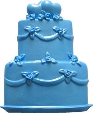 - SALE -  First Impressions - Mold - Wedding -  Rose wedding cake - W112