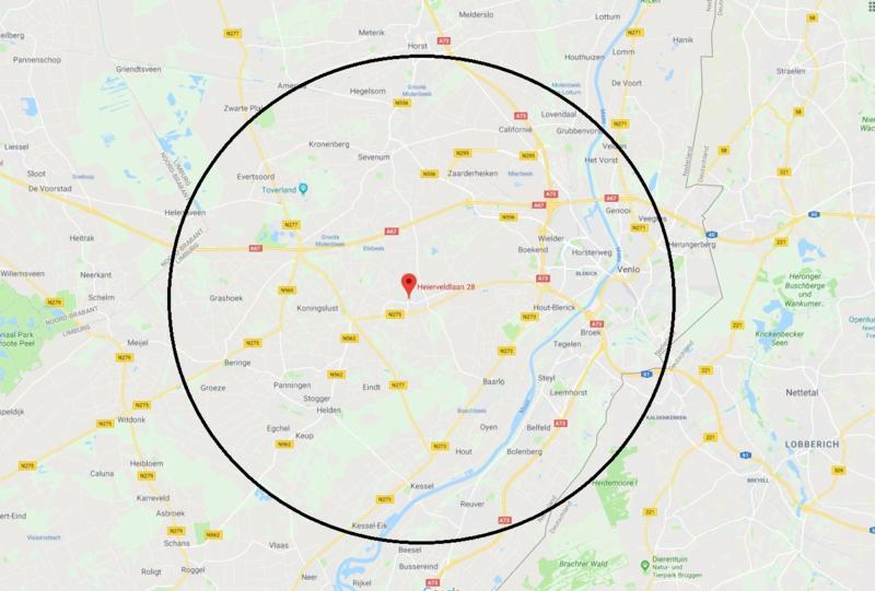 Maasbree - Venlo - Panningen - Kessel - Horst - Huurkisten kinderfeestje zeep