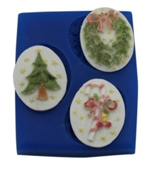 - SALE -  First Impressions - Mold - Christmas - cameo - SE225