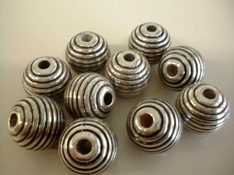 bead - metallic round type 30 - 20 mm - 10 units  - KEB018