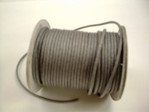 Waxkoord - staal grijs - WK05