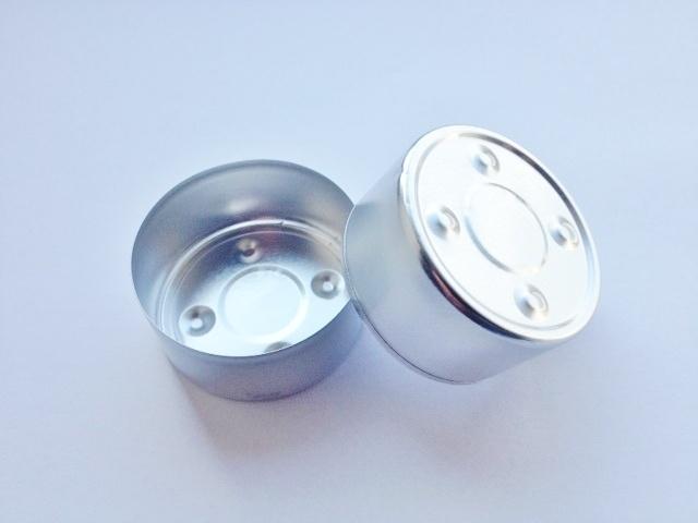 Theelicht / Waxinecup - aluminium - zilver - KLW30