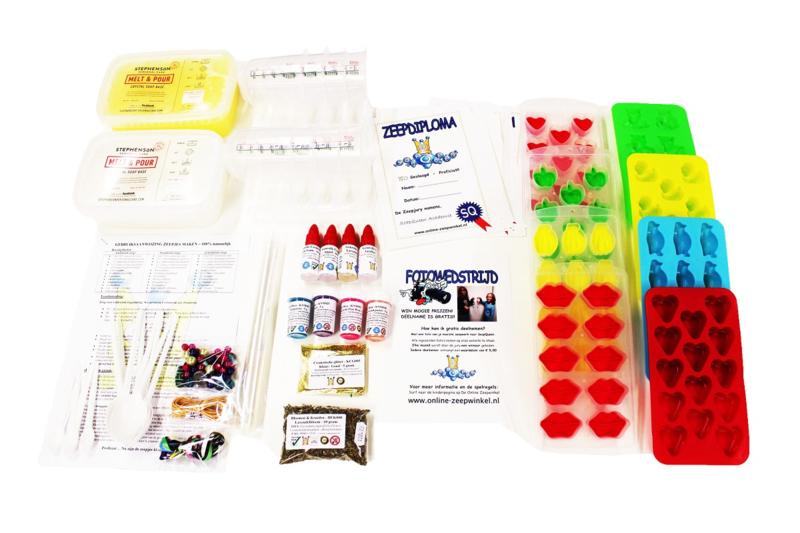 buy kit soap making - 100% natural - 8 children