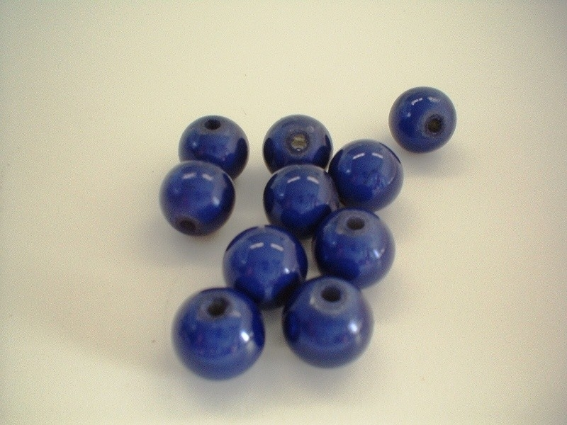 HQ kraal - rond miracle 3D - blauw - 10 mm - 10 stuks - KEB013