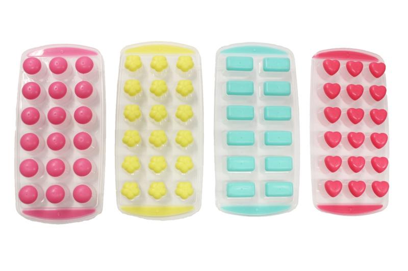 assortiment rubber / plastic - mallen voor melts  - 3 x 4 soorten - ZMR042