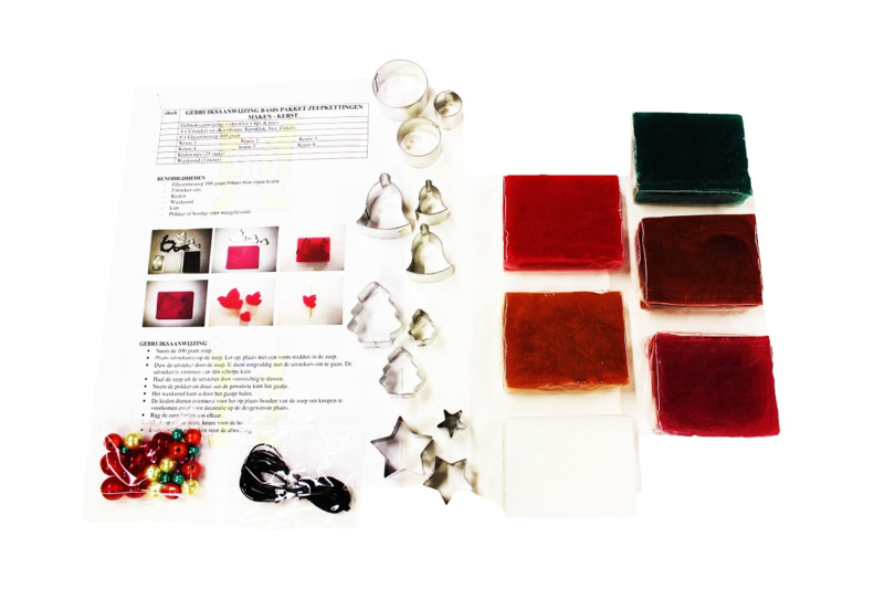 starterspakket - zelf zeepkettingen maken - Kerst