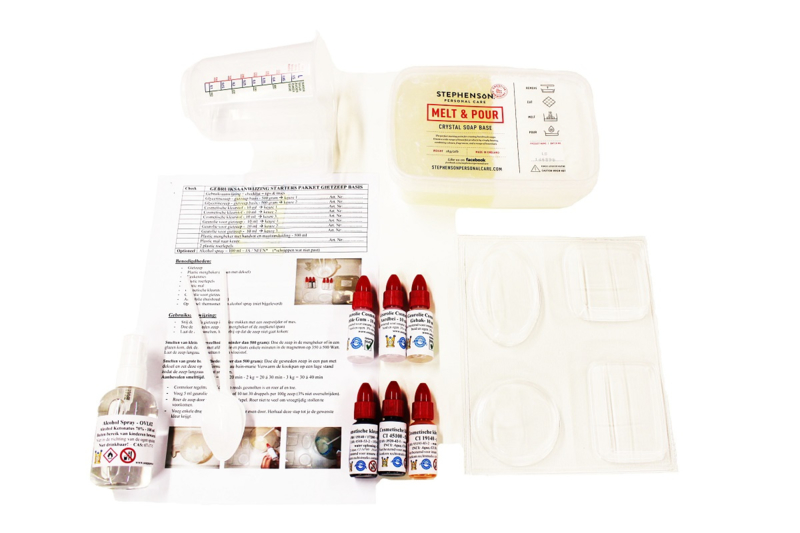 starter package - create melt & pour soap - basic
