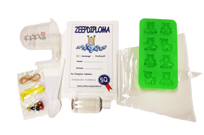 extra materiaal (1 kind) voor koopdoos zeep + douchegel