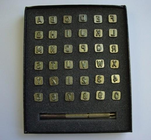 Zeep stempel set - alfabet + cijfers - small - dunne letters - ZES023