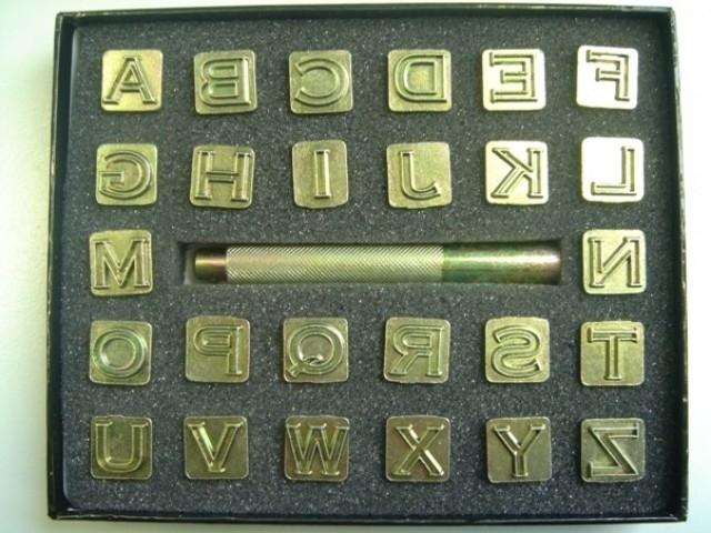 Zeep stempel set - alfabet - open blokletter - medium - ZES014