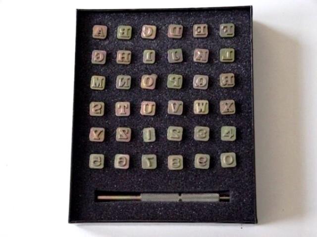 Zeep stempel set - alfabet + cijfers - small - ZES011