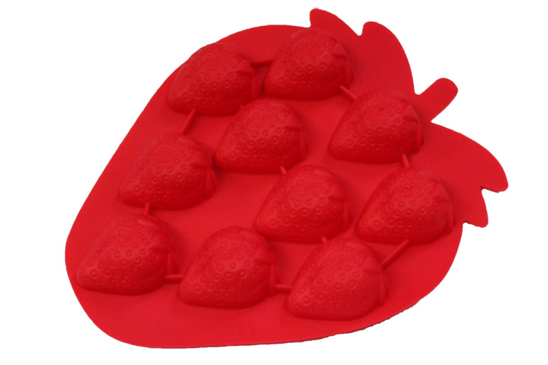 - AANBIEDING - 6 STUKS - rubber vorm - aardbeien - ZMR039