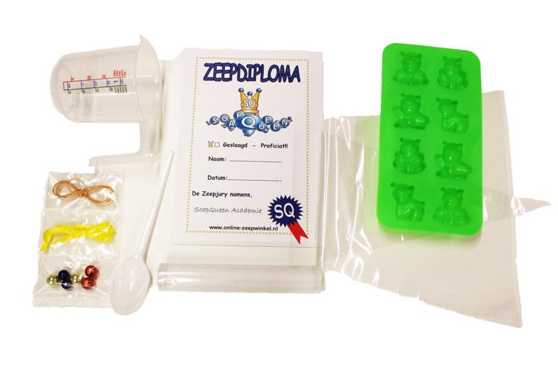 extra materiaal (1 kind) voor koopdoos zeep + badkaviaar