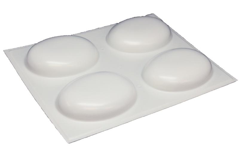Zeepmal - Ovaal rond medium - 4 stuks - (tijdelijk wit) - ZMP062