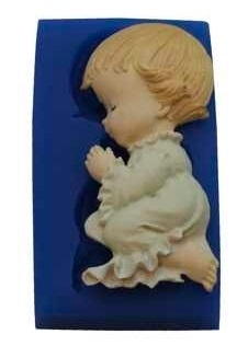 - SALE - First Impressions - Mold - Baby - praying girl - B194