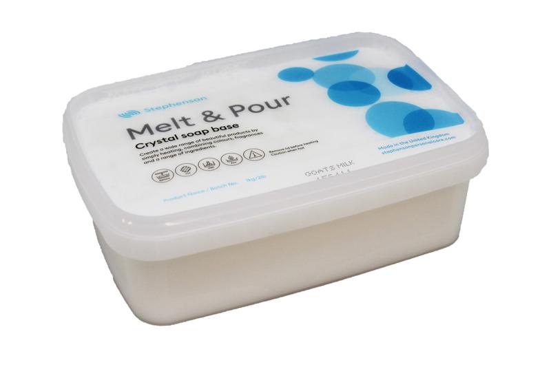 Glycerinezeep - gietzeep - wit - Geitenmelk zeep - Crystal MI - GGB10