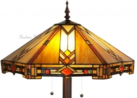 5423 9454 Vloerlamp Tiffany  Ø58cm Durban Ronde voet