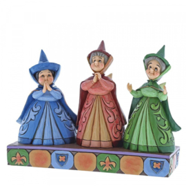 "Aurora THREE FAIRIES ""Royal Guests""H11cm Jim Shore 4059734"
