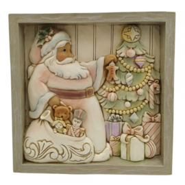 Plaque Santa wit Tree 16x16cm Jim Shore 6009567