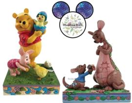 Winnie The Pooh en Piglet & Kanga en Roo - Set van 2 Jim Shore beelden