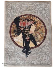 "Alphonse Mucha ""Dona Orechini"" Wandkleed  140x90cm Gobelin Geweven"