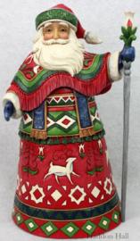 """Lapland Santa"" H26,5cm Jim Shore 6001463"