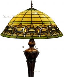 "5804 9459 *Vloerlamp Tiffany "" Bolling in de voet "" ""Olive"""