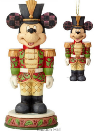"MICKEY  ""Stalwart Soldier"" Nutcracker H18cm + Hanging Ornament H10cm"