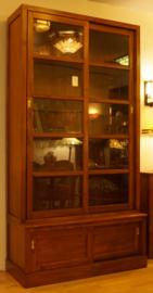 Boekenkast - Servieskast H238 B124cm Massief Teakhout