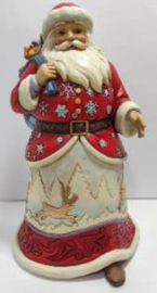 Walking Santa Winter Scene H21cm - Jim Shore 6008878