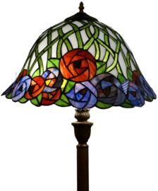 KT162152 V466 Vloerlamp H156cm met Tiffany Ø41cm Diana